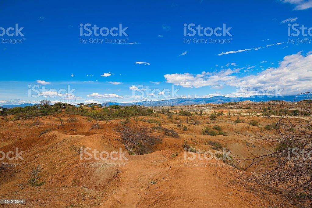 Desierto de la Tatacoa en Huila, Colombia stock photo