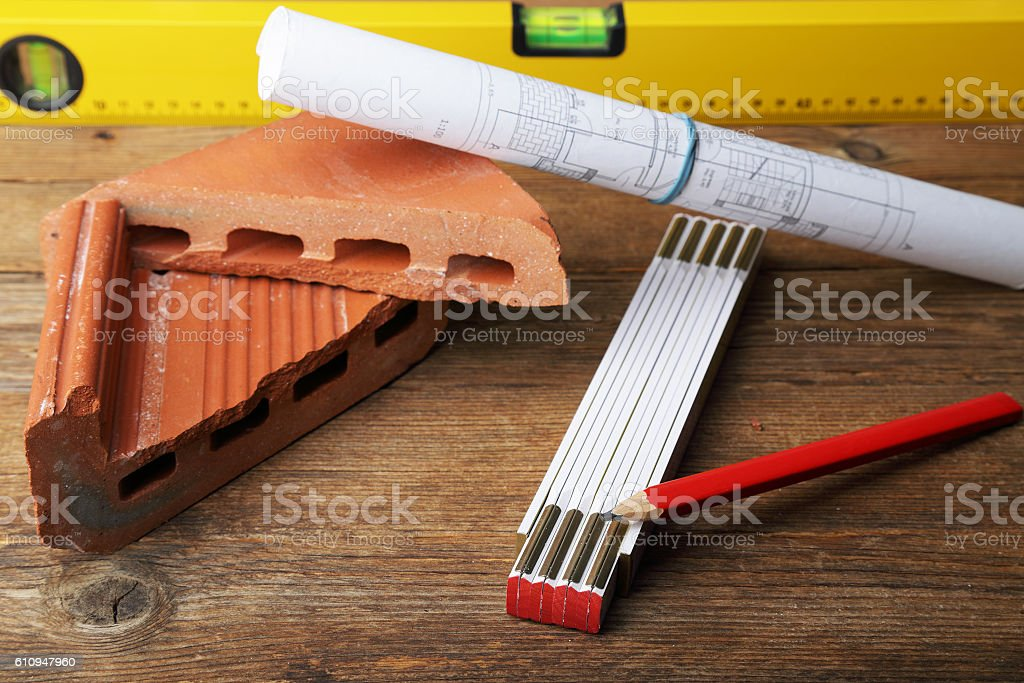 Design a building - building stock photo