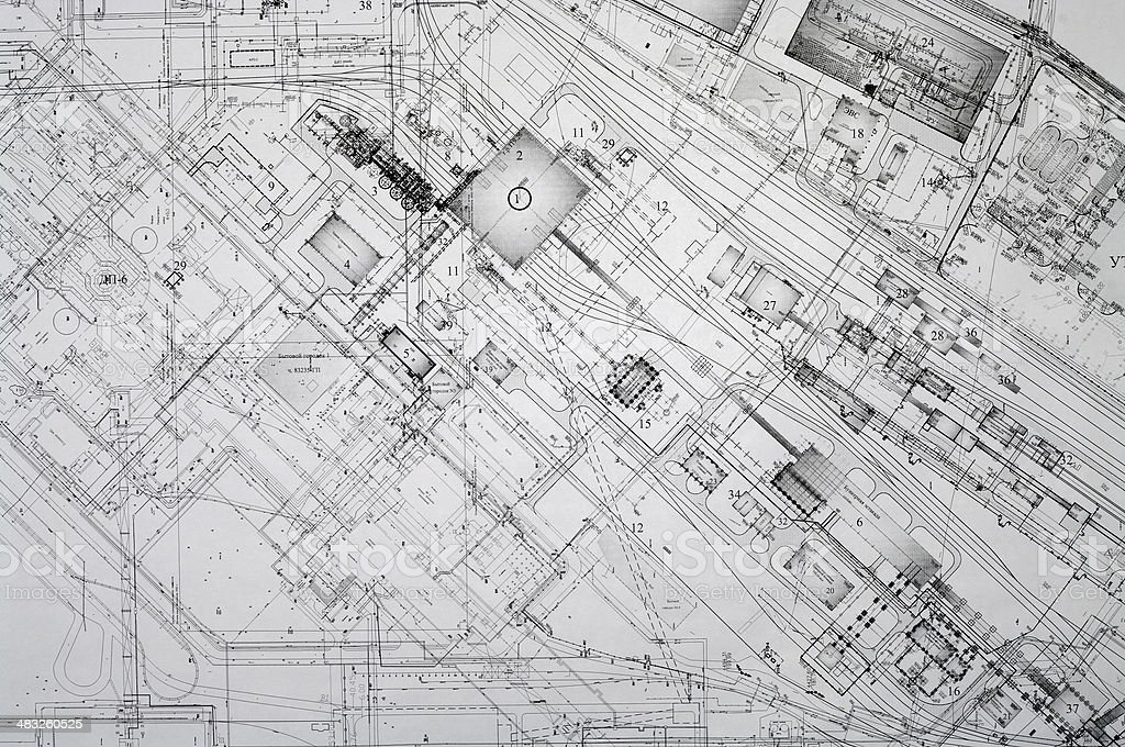 Design and project drawings. royalty-free stock photo