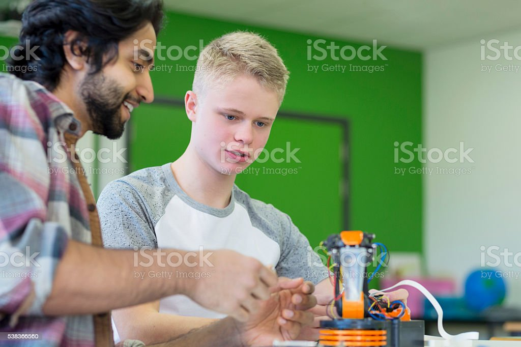Design and technology lesson stock photo