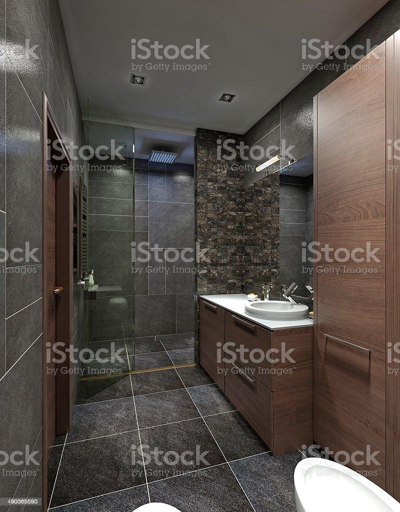 Design Bathroom Contemporary style. stock photo