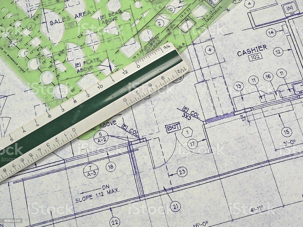 Design Blueprints royalty-free stock photo
