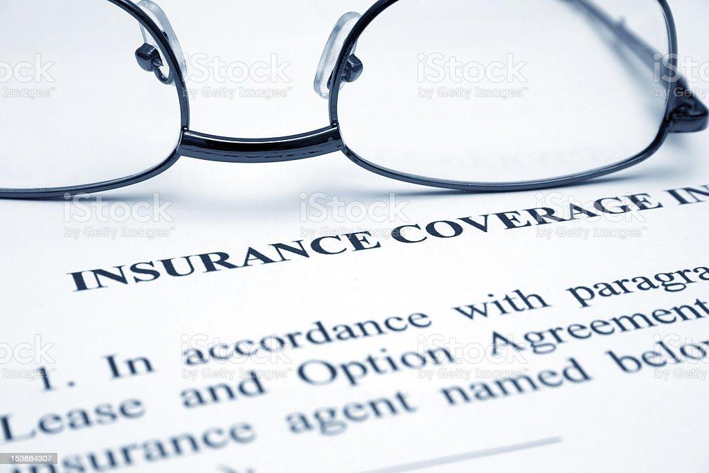 Design concept for Insurance Coverage stock photo