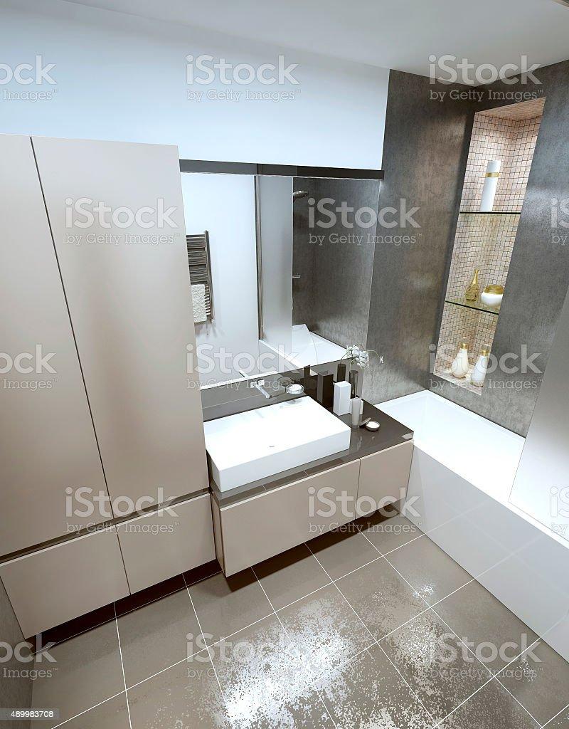 Design Contemporary style bathrooms. stock photo