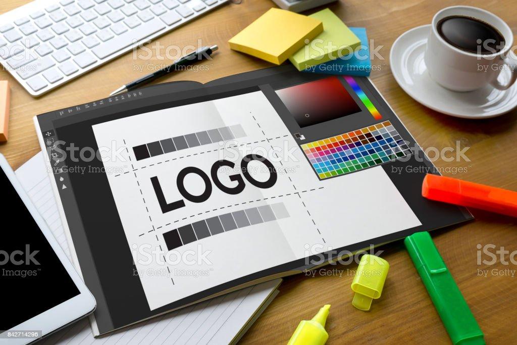 design creative creativity work brand designer sketch graphic  logo design Business concept stock photo