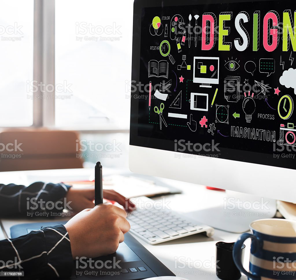 Design Creative Planning Objective Purpose Ideas Concept stock photo