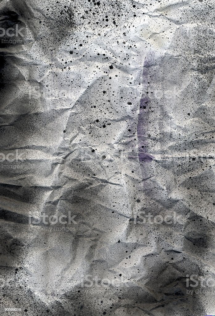 Design element - scrunched paper stock photo