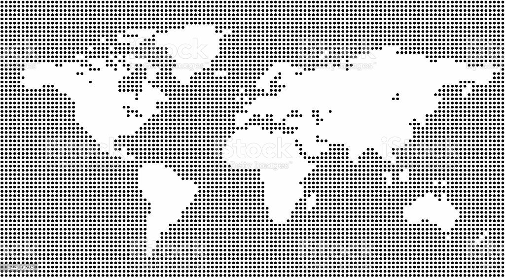 Design Element - World Map made from circles stock photo