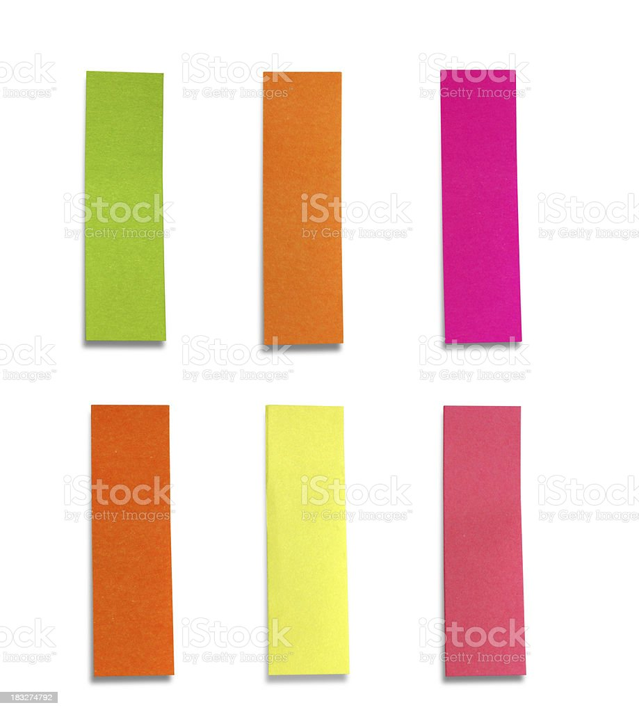 Design Element-Vibrant Color Bookmark,Label,Tag,Reminder stock photo