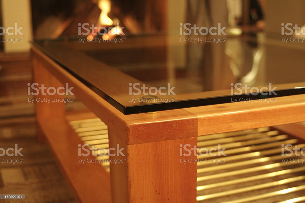 Design Forniture and Chimney stock photo