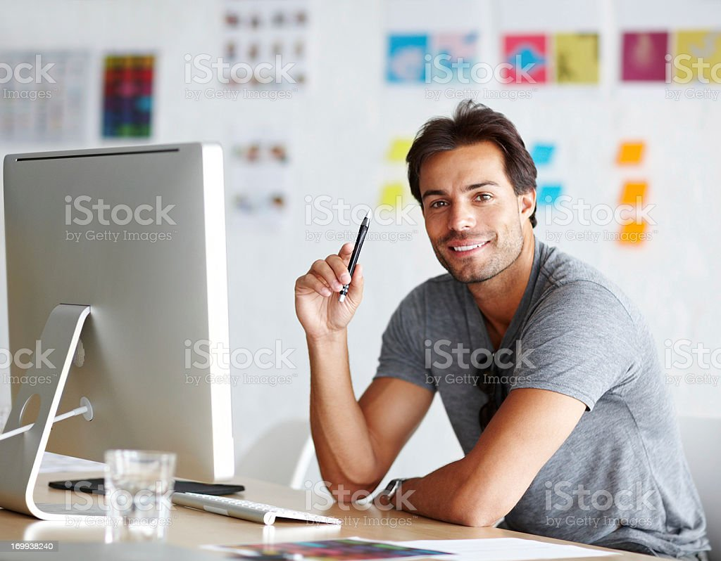Design is his forte stock photo