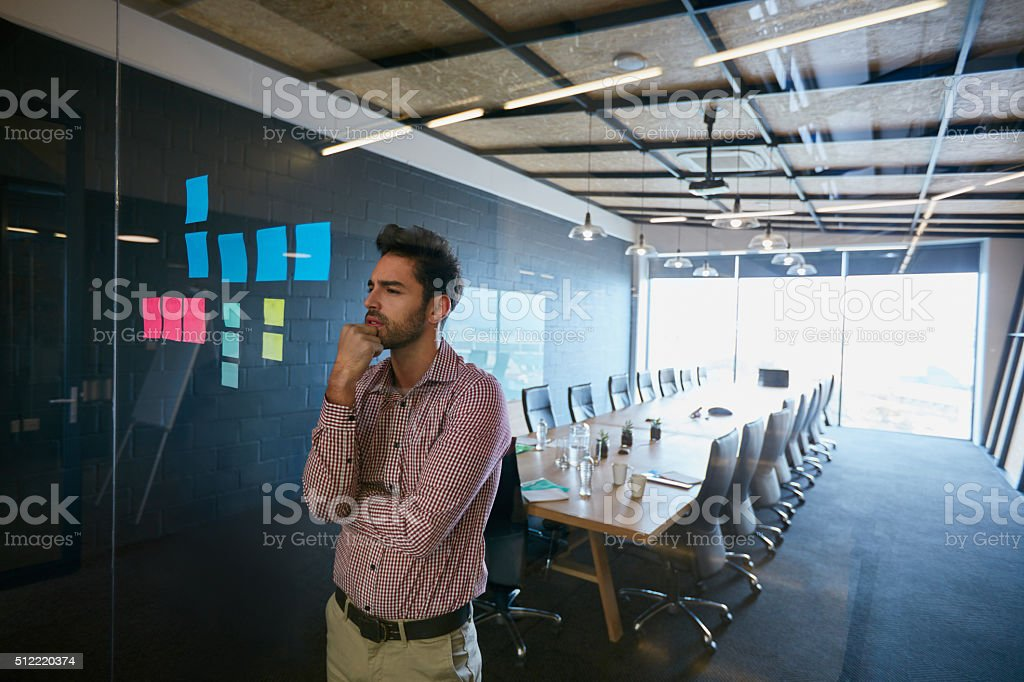 Design is thinking made visible stock photo
