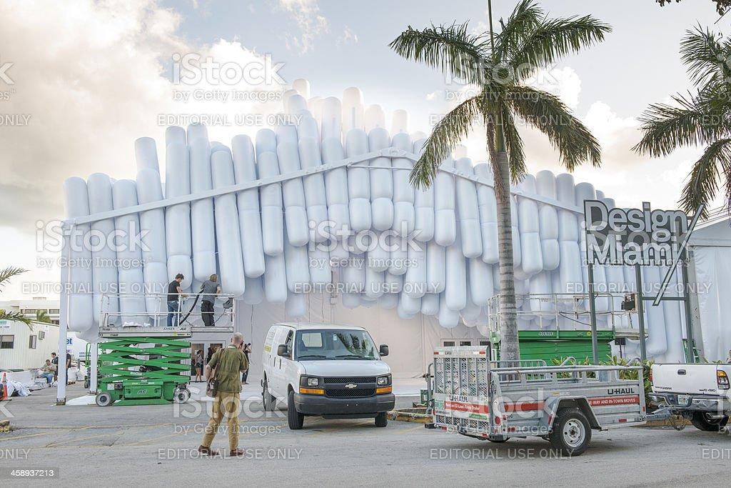 Design Miami Art Fair Prepares for Opening stock photo