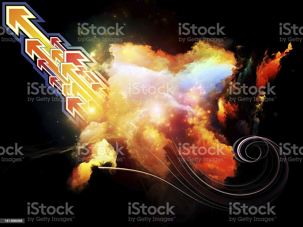 Design Nebulae Composition royalty-free stock photo