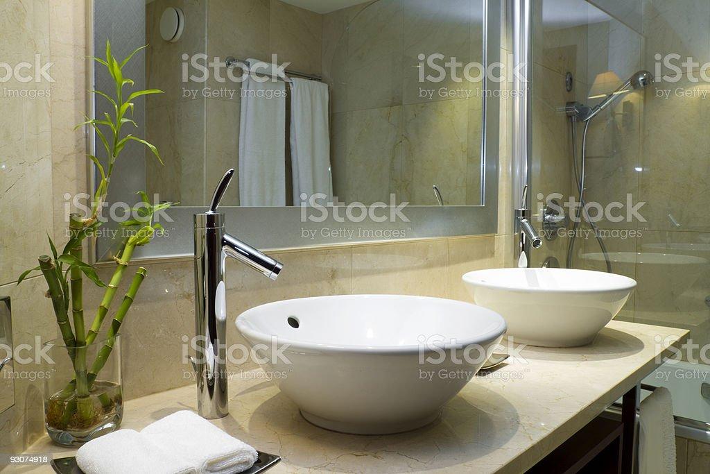 Design of a bathroom stock photo