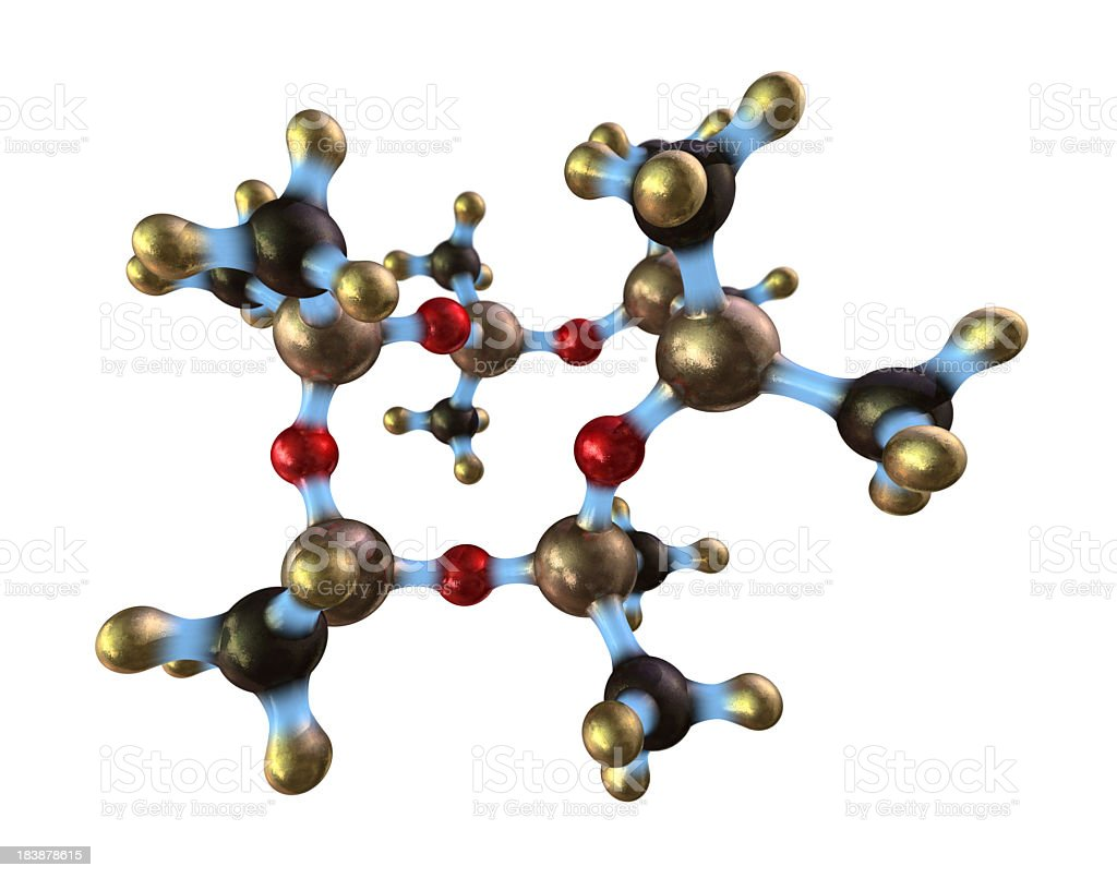 A design of a silicone molecule stock photo
