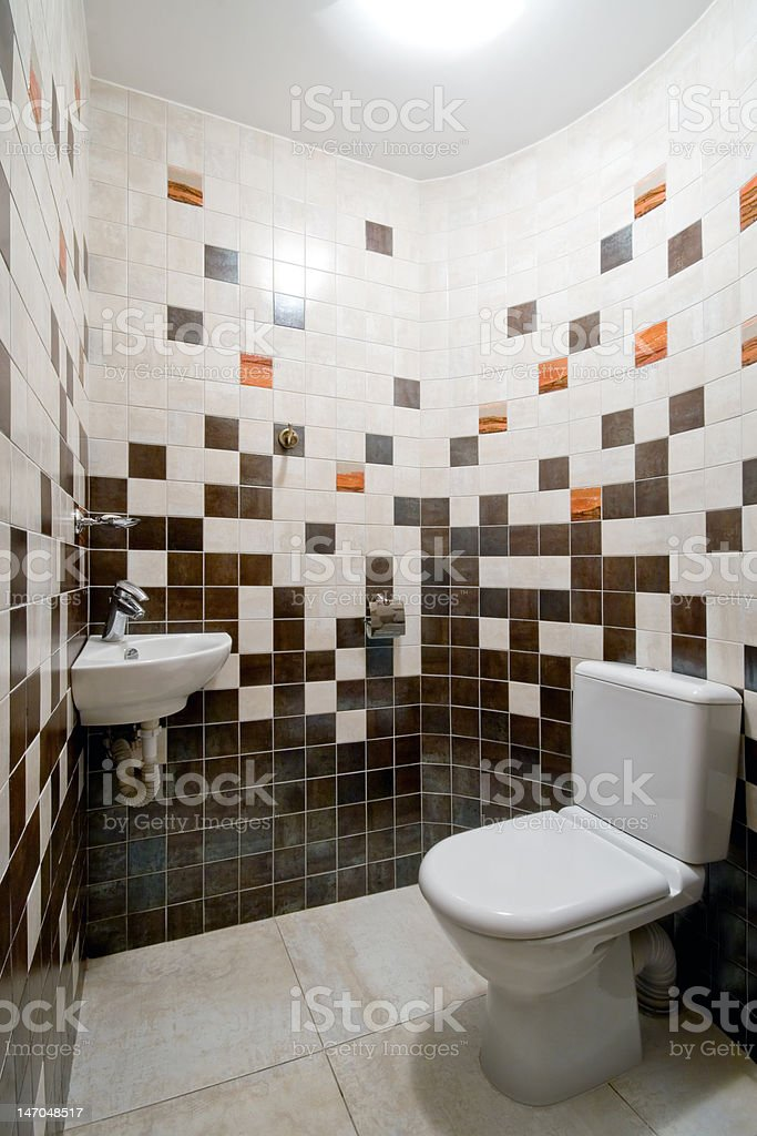 Design of a simple restroom royalty-free stock photo
