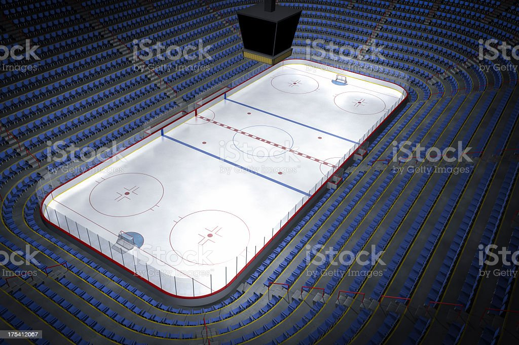 Design of an unoccupied hockey arena stock photo