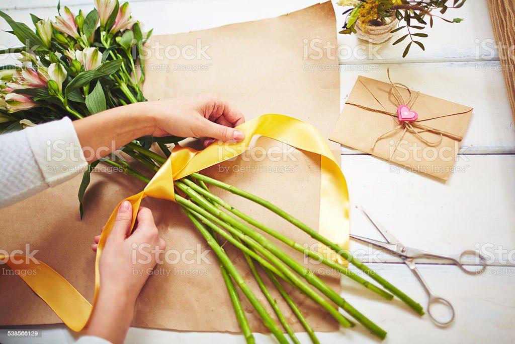 Design of bouquet stock photo