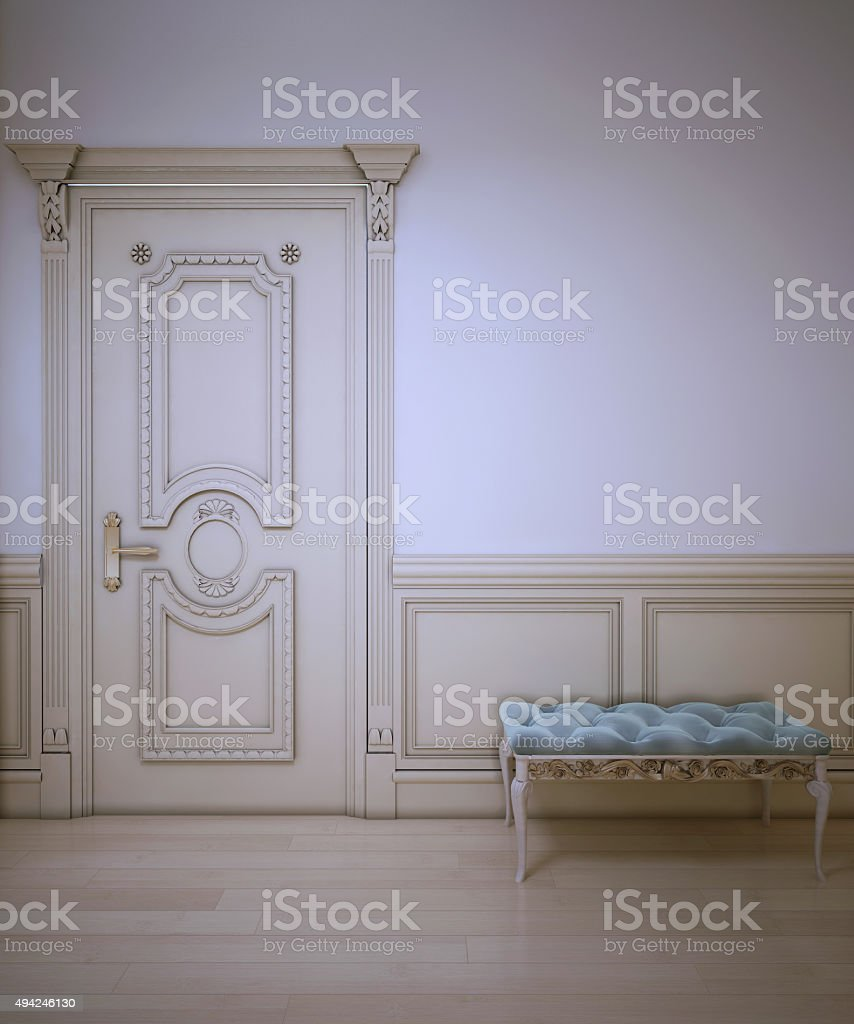 Design of classic entrance stock photo