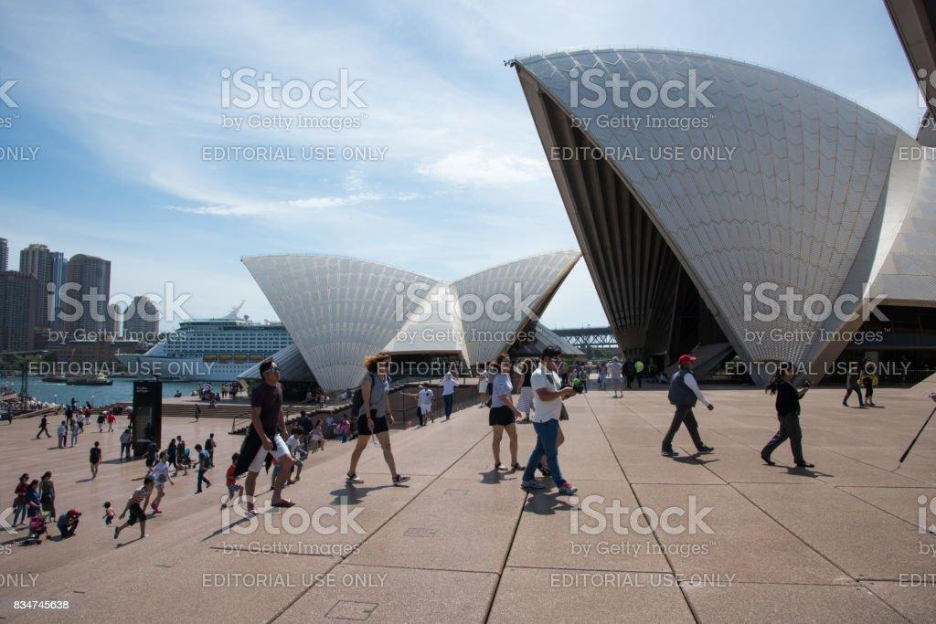 Design of the Sydney Opera House stock photo