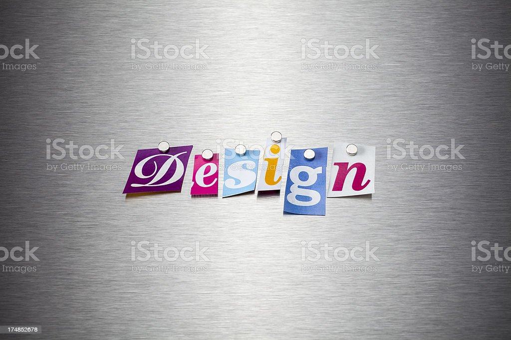 Design On Brushed Metal royalty-free stock photo