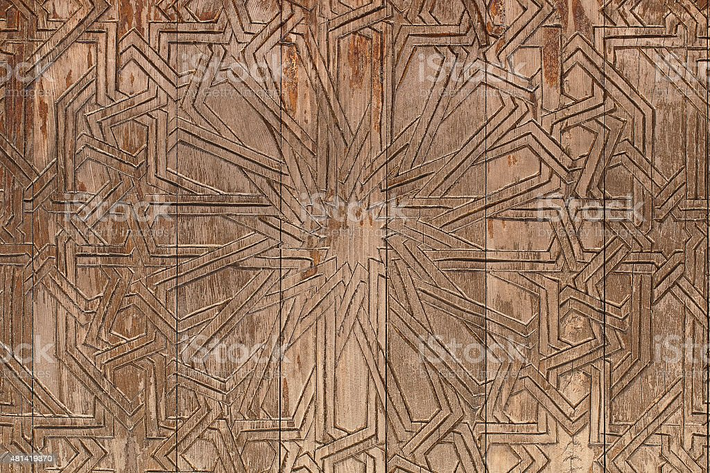 Design on old wooden board for pattern stock photo
