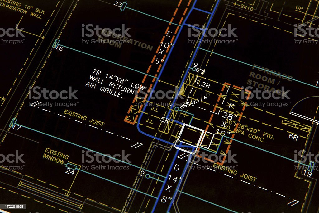 HVAC design royalty-free stock photo