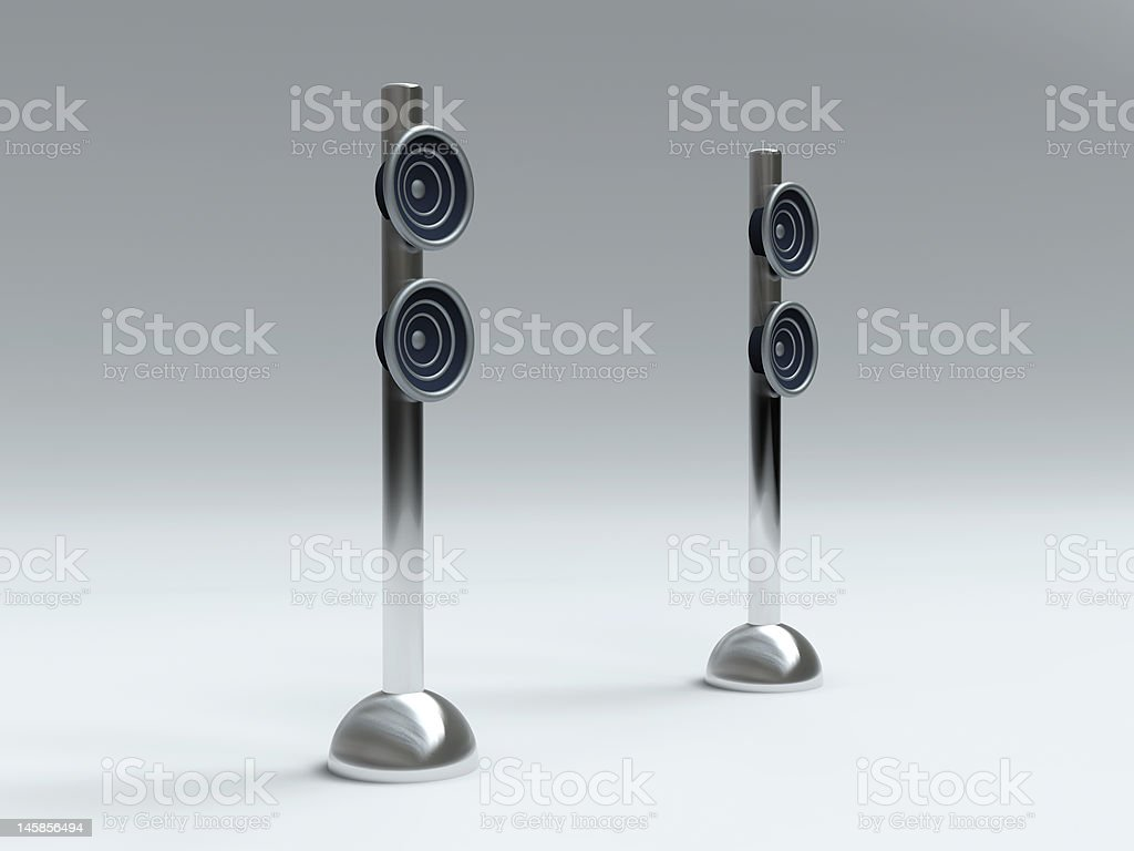 Design Speakers vector art illustration