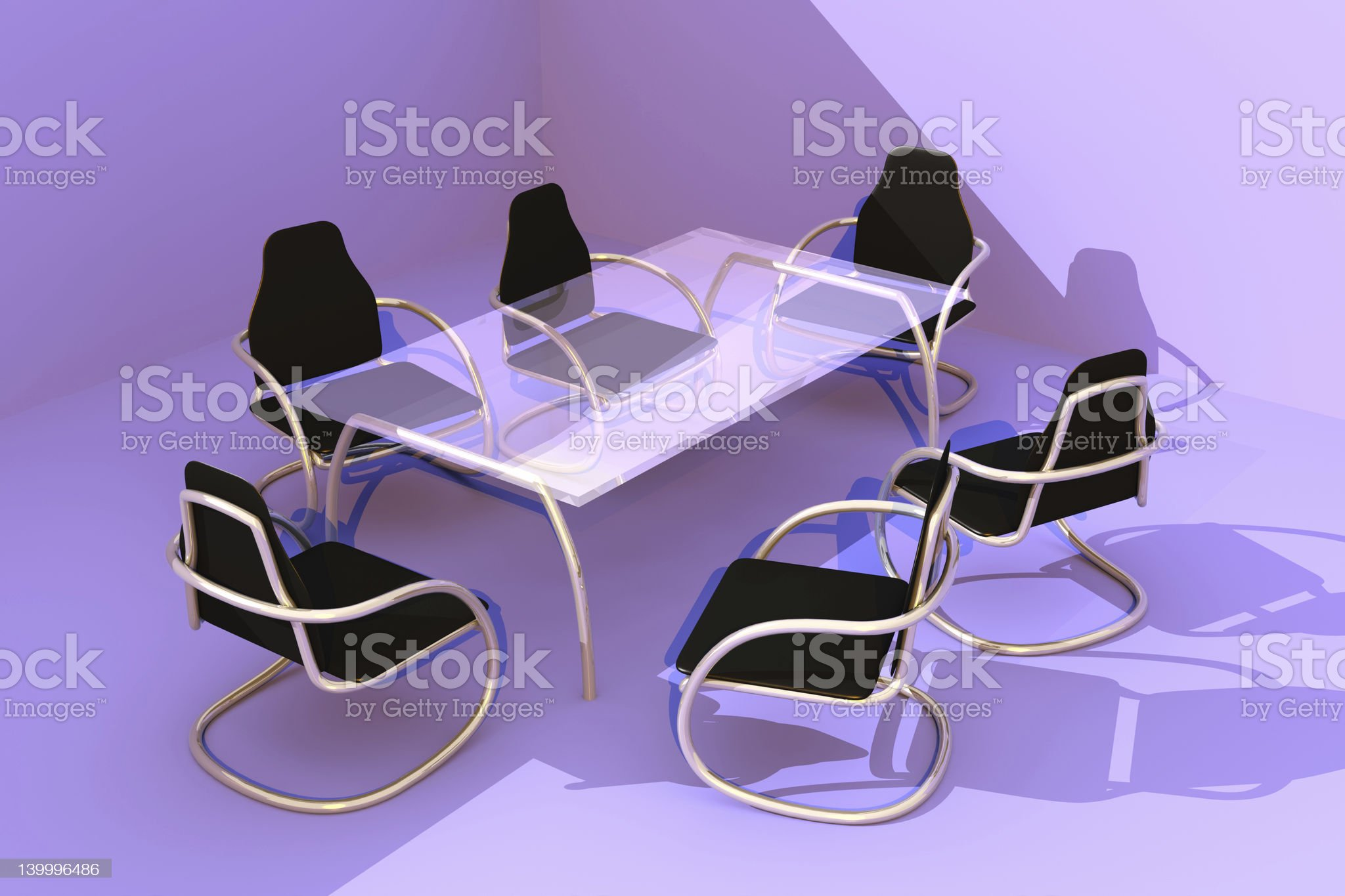 Design Table and Chairs royalty-free stock photo