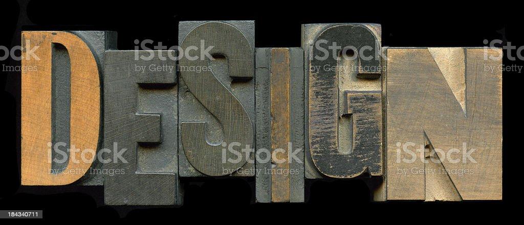 Design Type Blocks royalty-free stock photo