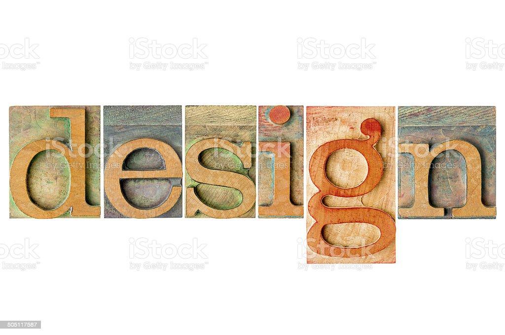 design - wood type collage stock photo