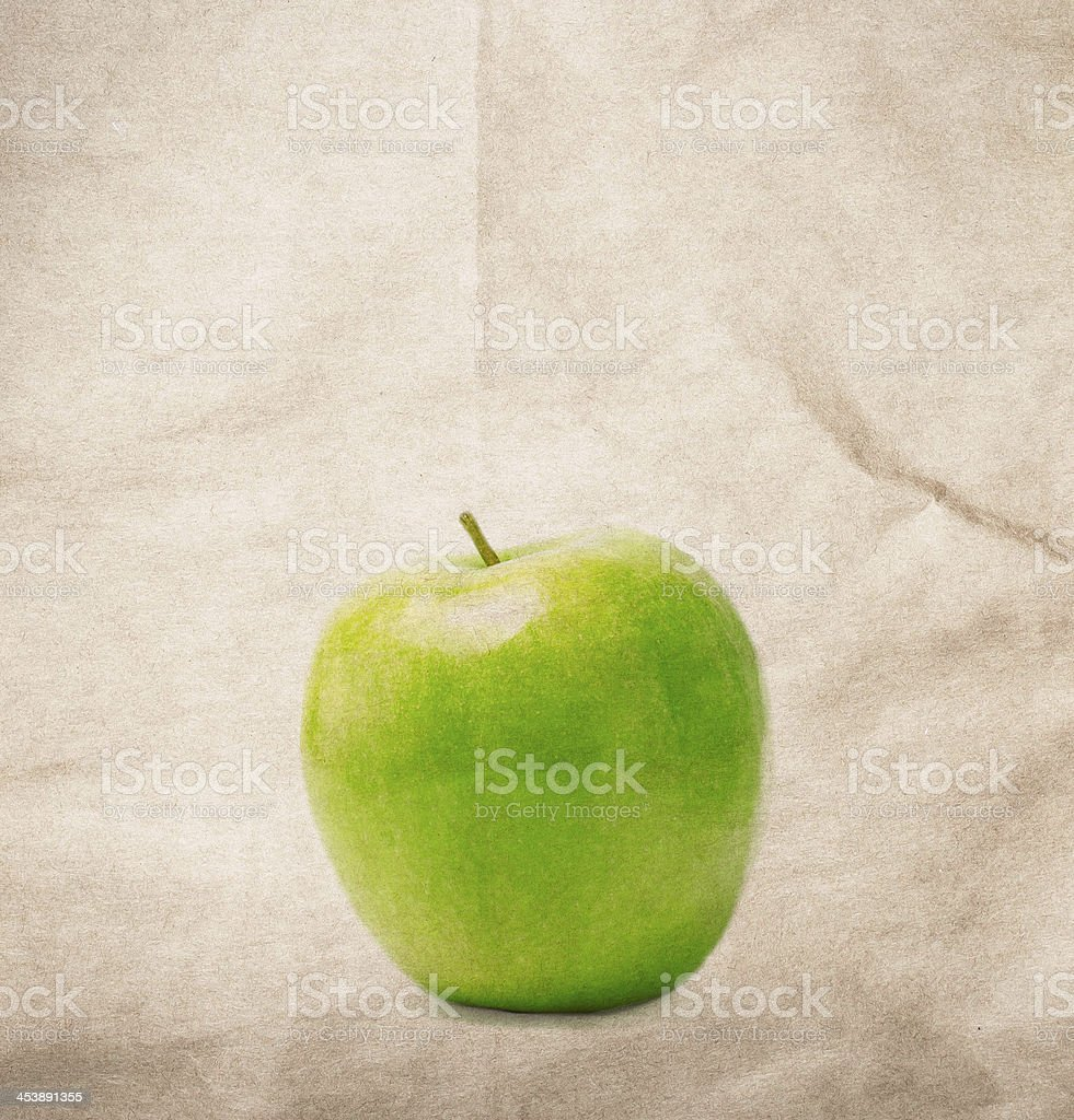 Designed green natural recycled paper texture background. royalty-free stock photo