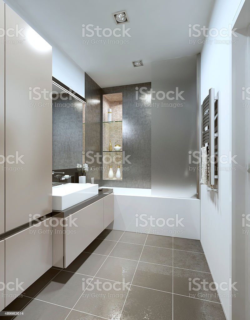Designed in the style of Contemporary bathrooms. stock photo