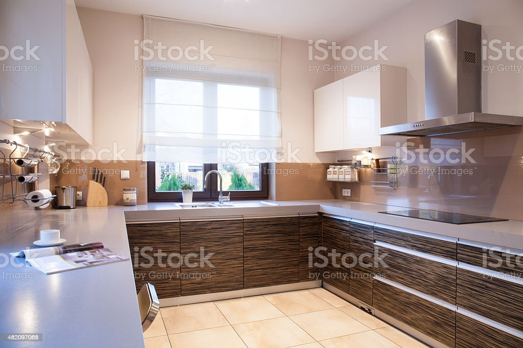 Designed kitchen stock photo