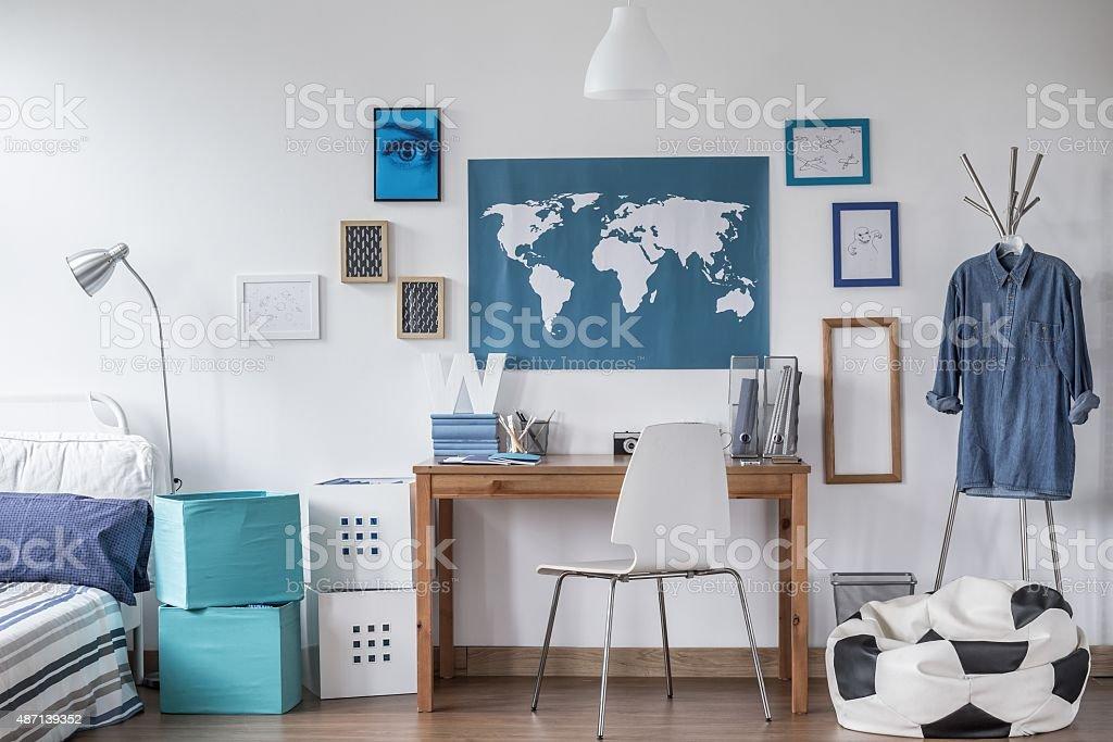 Designed study room stock photo
