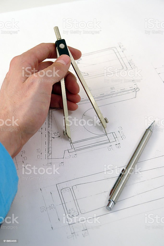 Designer and his project royalty-free stock photo