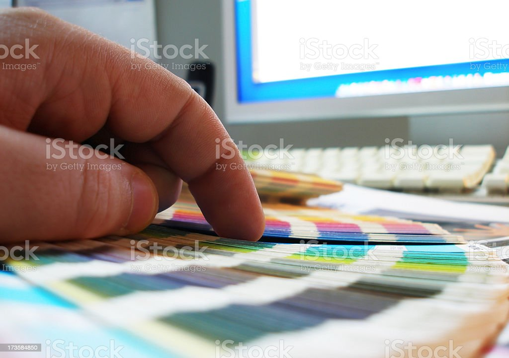 Designer and Pantone royalty-free stock photo