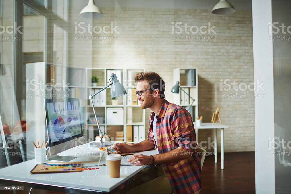 Designer at office stock photo