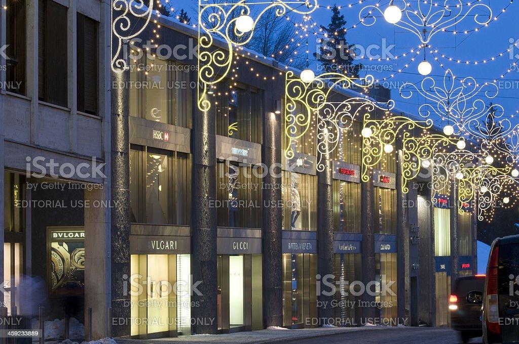 Designer boutiques stock photo