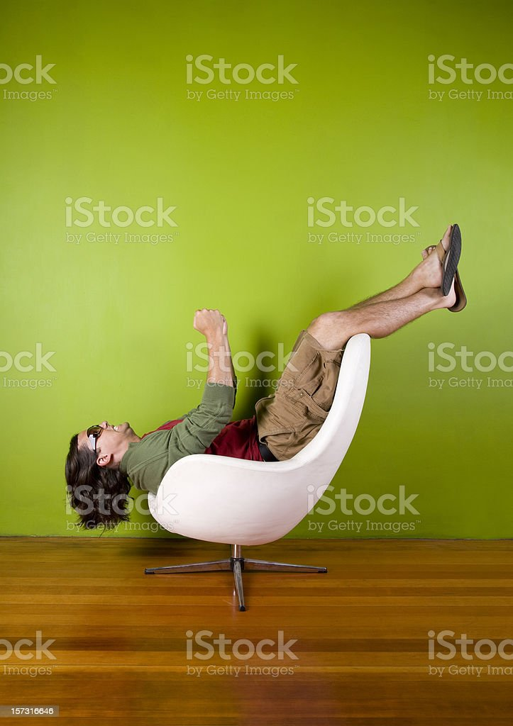 Designer Chair Plane royalty-free stock photo