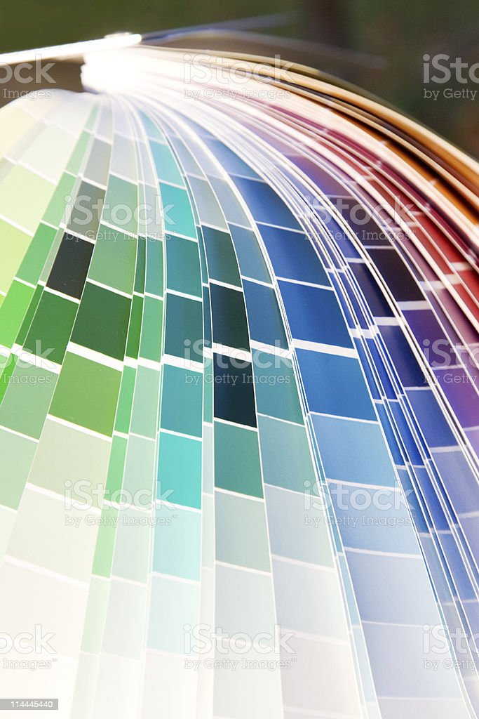 designer color guide close-up royalty-free stock photo