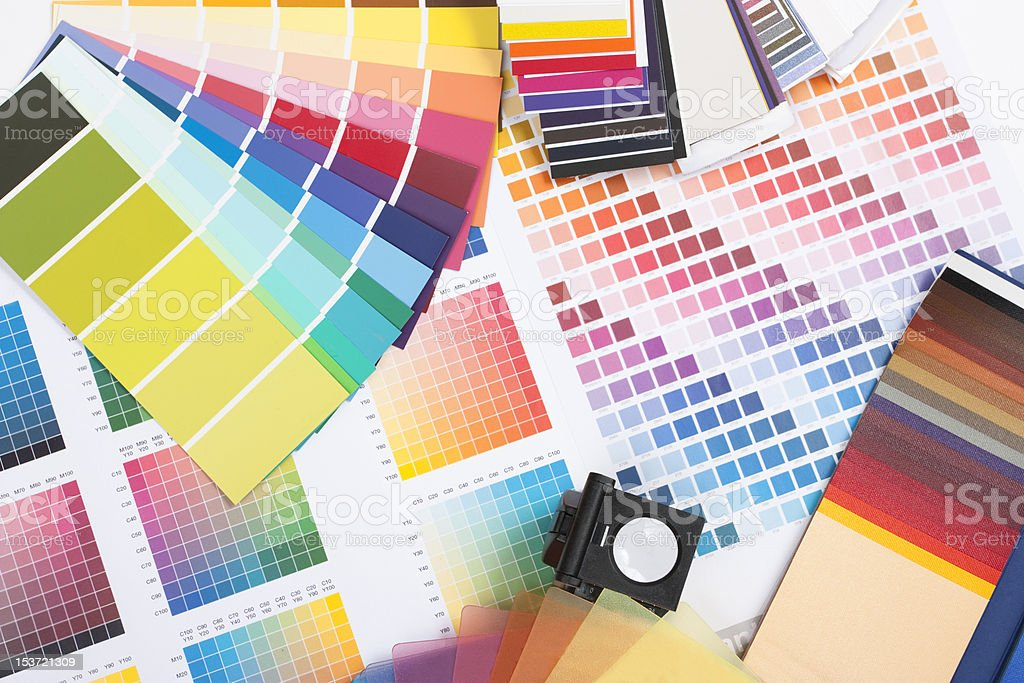 designer coloured swatches stock photo
