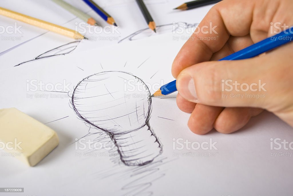 Designer Drawing stock photo