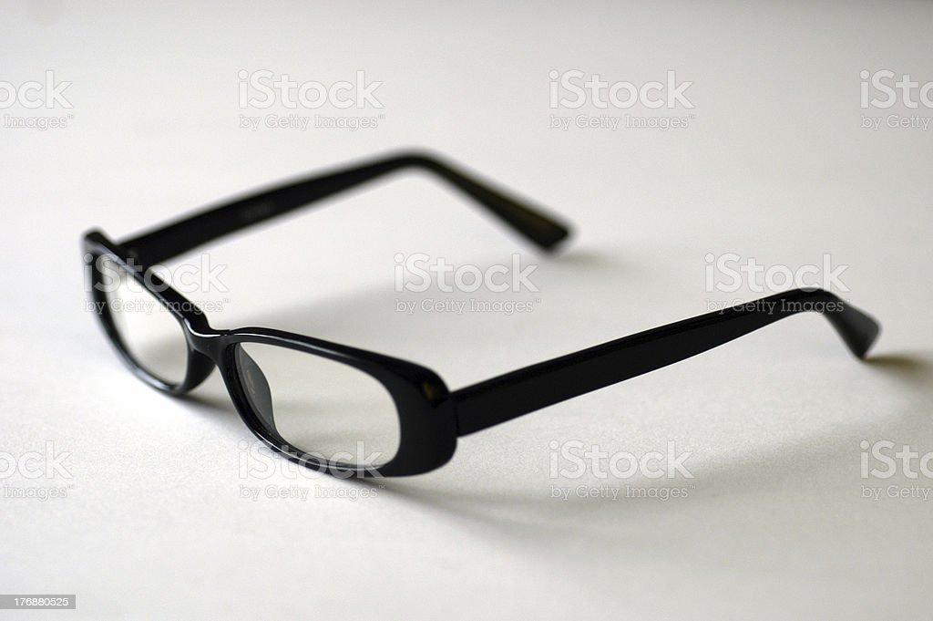 Designer Frames Eye Glasses on white royalty-free stock photo