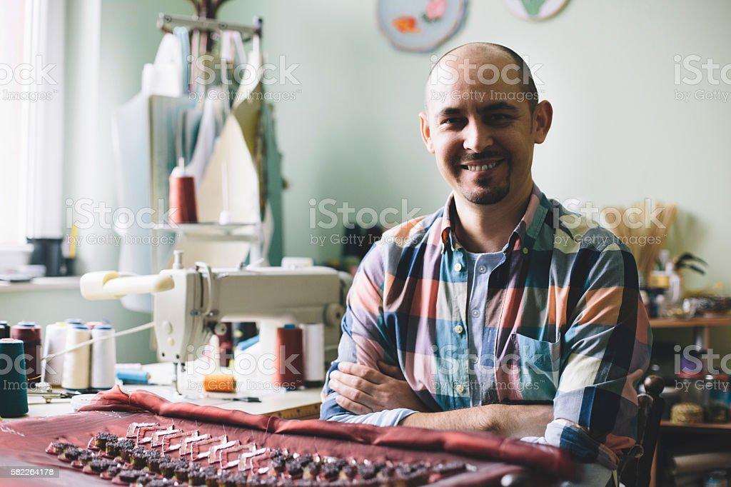 Designer in his atelier stock photo