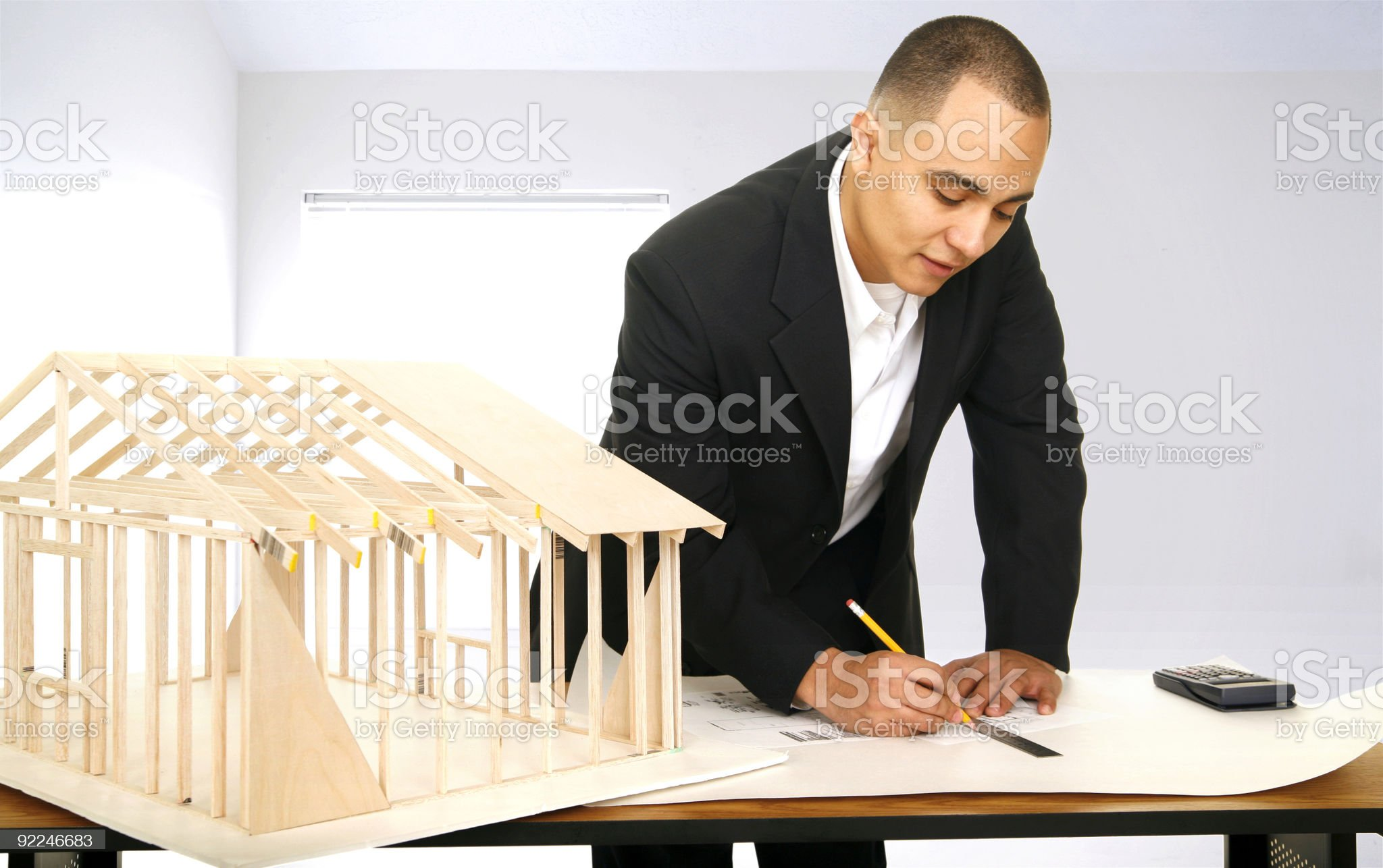 Designer In His Office royalty-free stock photo