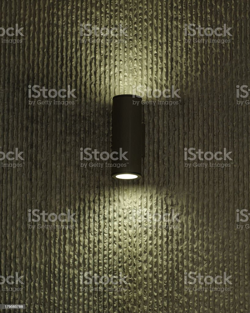 designer lamp on the wall royalty-free stock photo