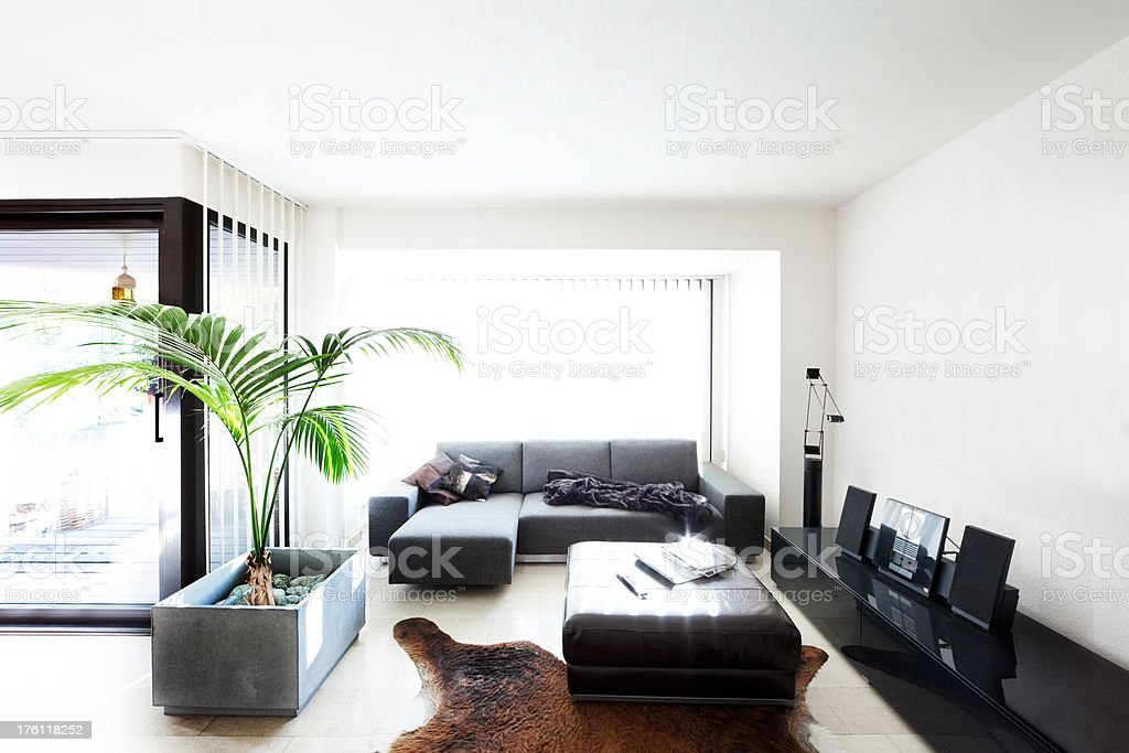 Designer Living Room royalty-free stock photo