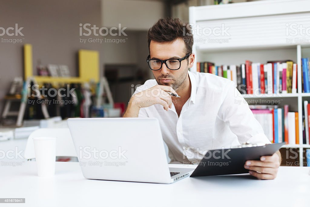Designer looking for inspiration stock photo